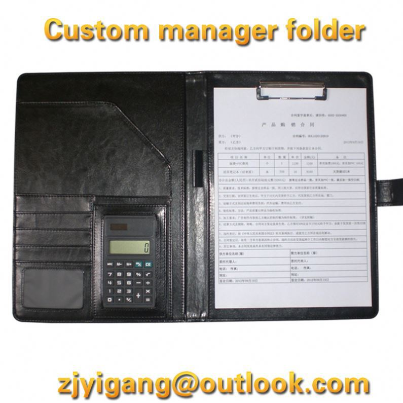 Professional black pvc cover leather note book manufacturer