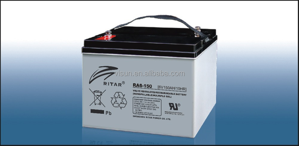 RITAR AGM VRLA 150AH 6 VOLT BATTERY