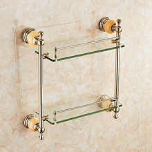 Factory supply topaz series wall mounted glass shelf bathroom