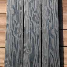3D embossing solid wood composite modular decking systems