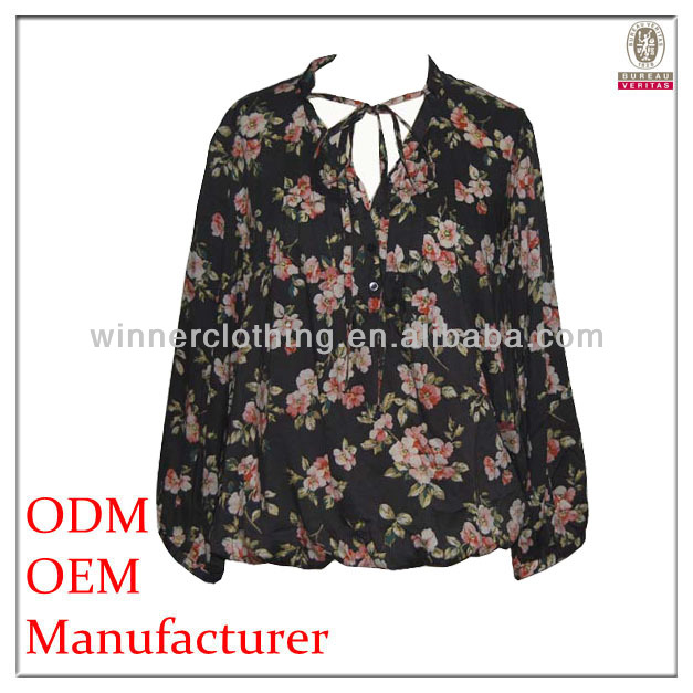 Fashion design summer new style ladies blouse back neck designs