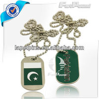Pakistan Flag Dog Tags with Ball Chain