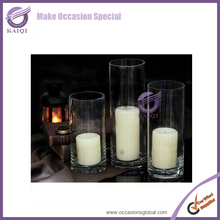 k6998 wholesale Tall Slim Clear Cylinder Glass Vases for Decration