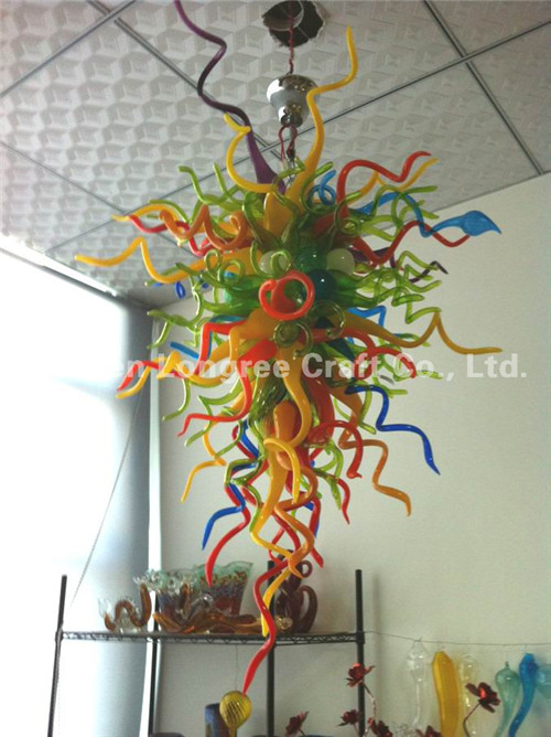 Hot Sale Multi Color Crystal Chandelier Modern <strong>LED</strong> Pendant Lamps