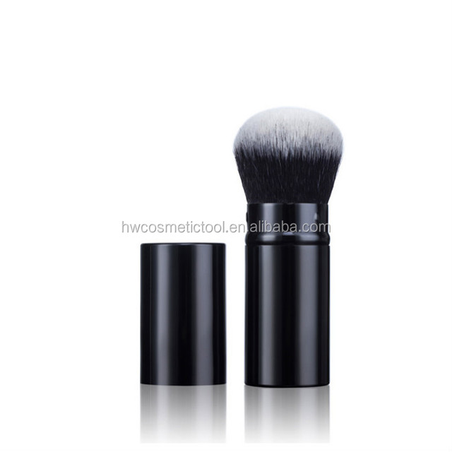 2018 Chinese supplier wholesale high quality beauty cosmetics retractable powder makeup brush