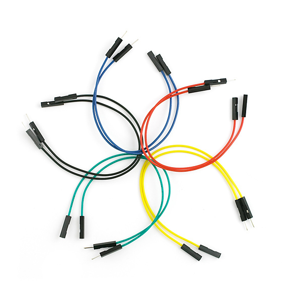 "Wholesale Breadboard Jumper Wires Premium 6"" <strong>M</strong>/F Pack of <strong>10</strong>"