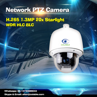 New arrival H.265 1.3MP 20x network Starlight Pan Tilt Zoom 960p ptz ip camera WDR wifi ip camera waterproof network camera