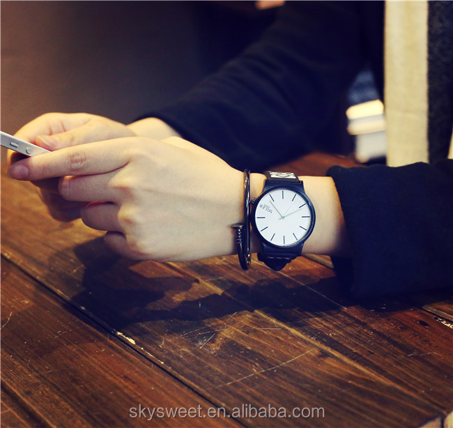 Hip hop couple students wrist watches,boy and girl fashion geometrical pattern silicon watches(SWTPW04)