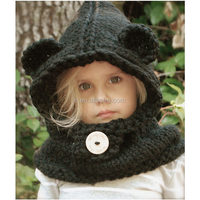 latest design KNITTING Bear PATTERN crochet animal cap baby winter hats for children