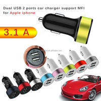 Smart Mini Dual USB Car Charger 5V 3.4Amp Universal Ports - MFI for apple iphone