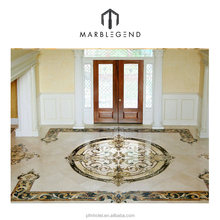 outdoor floor decorative foyer beige medallion floor