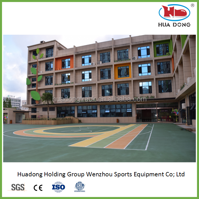 outdoor used synthetic volleyball sport court flooring surface