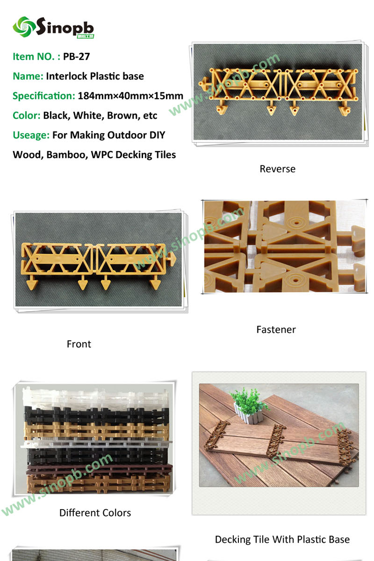 interlocking plastic mat mosaic tile plastic mould for tiles