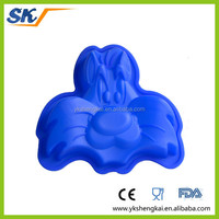 carton silicone cake molds with cute design