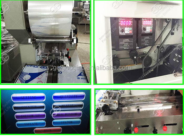 Good Quality Automatic Packing Vertical Flow Granola Bar Pillow Cookie Mushroom Candy Cheese Chocolate Soap Packaging Machine