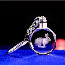 Special wedding return gifts LED glass keychains