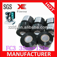 Fineray brand FC3/SCF-900 35mm*120m hot date coding foil /black coding ribbons for expiry date and batch number coding