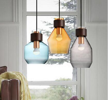 Modern style glass clear cover vintage pendant lamp / lighting 15-D1030-C