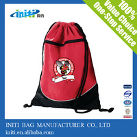2015 China wholesale polyester girls backpack bag/draw string bag