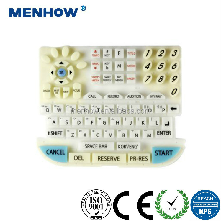 high quality OEM/ODM wholesale big size silicone rubber computer keyboards