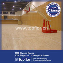 Professional University Basketball Flooring with Wood Like PU Surface