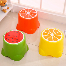 2018 yiwu high quality supplier durable fruit plastic stool chairs stool for kids