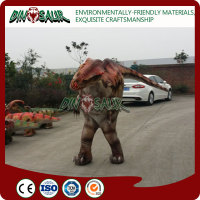 Inflatable dinosaur game dinosaur mascot costume