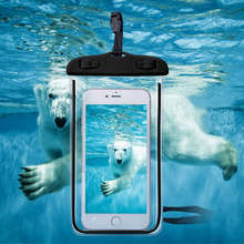 2017 trending products ! OEM clear PVC bag ocean pack waterproof phone protector dry bag for mobile phone