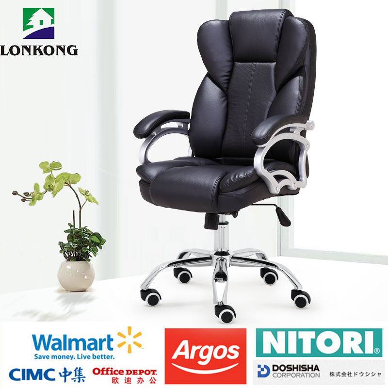 Luxury Genuine Leather President Boss Office Chair