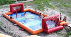 12X6m soap football pitch, water inflatable soccer pitch