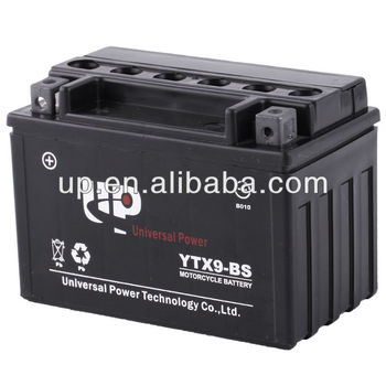 China manufacturer MF motorcycle battery 12v8ah
