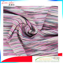 polyester spandex space dye stretch fabric