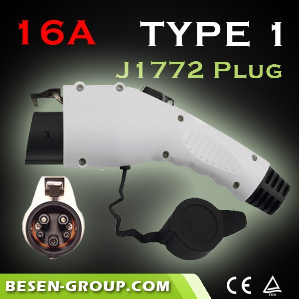 16Amp j1772 charging holster For Electric Vehicle Charging With CE, TUV, UL Certificates