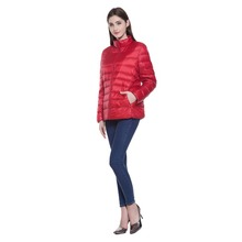 Factory Womens Winter Spring Thin Lightweight Shiny Winter Down Jacket