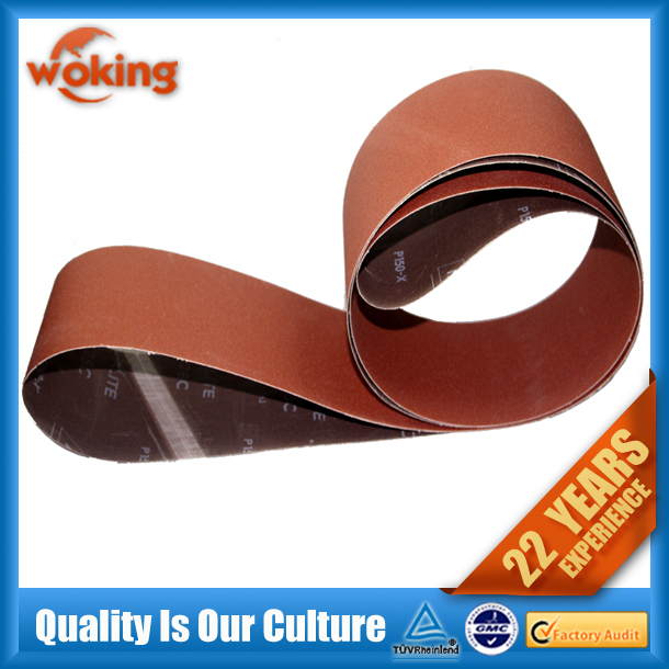 Aluminum oxide Abrasive Sanding Belts for Wood/Metal