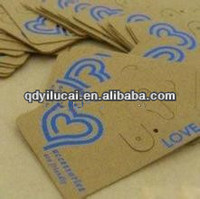 2014 earring cards custom made wholesale with logo
