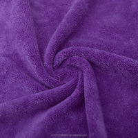 China suppliers fast dry microfiber towel purple bath towels