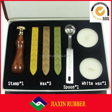 Hot selling stamp/Wooden stamp box/luxury wax seal set for gift