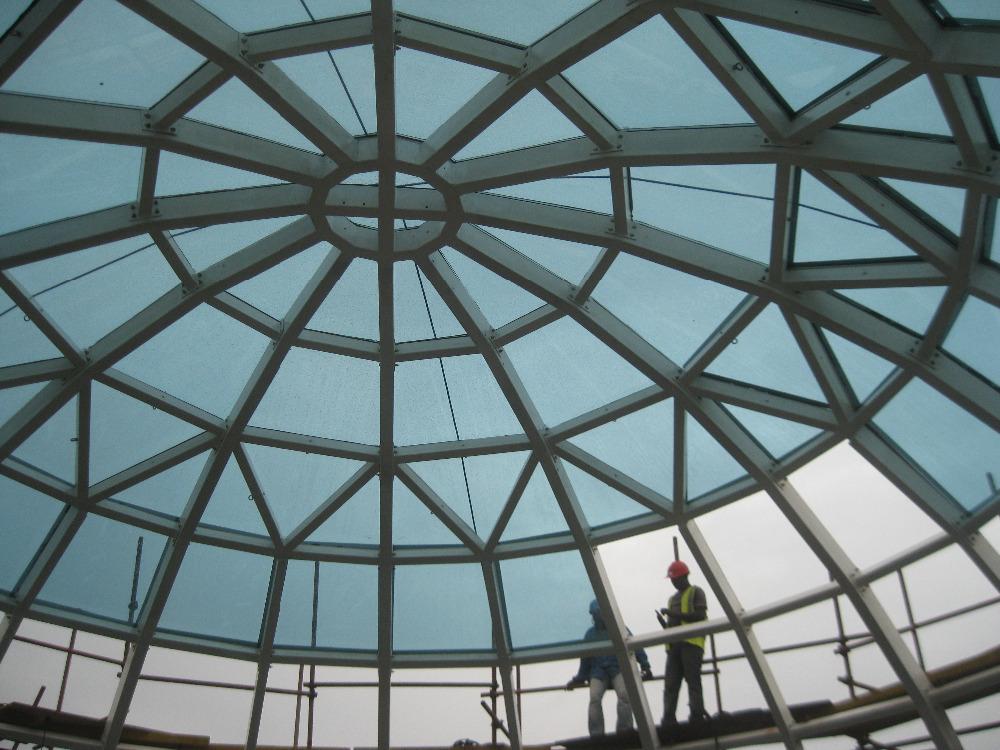 Prefab Light Weight Space Frame Structure Fiberglass Roof