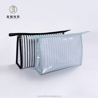 Wholesale Alibaba Green White Stripe Pvc Material Hand Bag