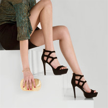 L298 Top sale made in China ladies high heel fancy sandals leather sandalias