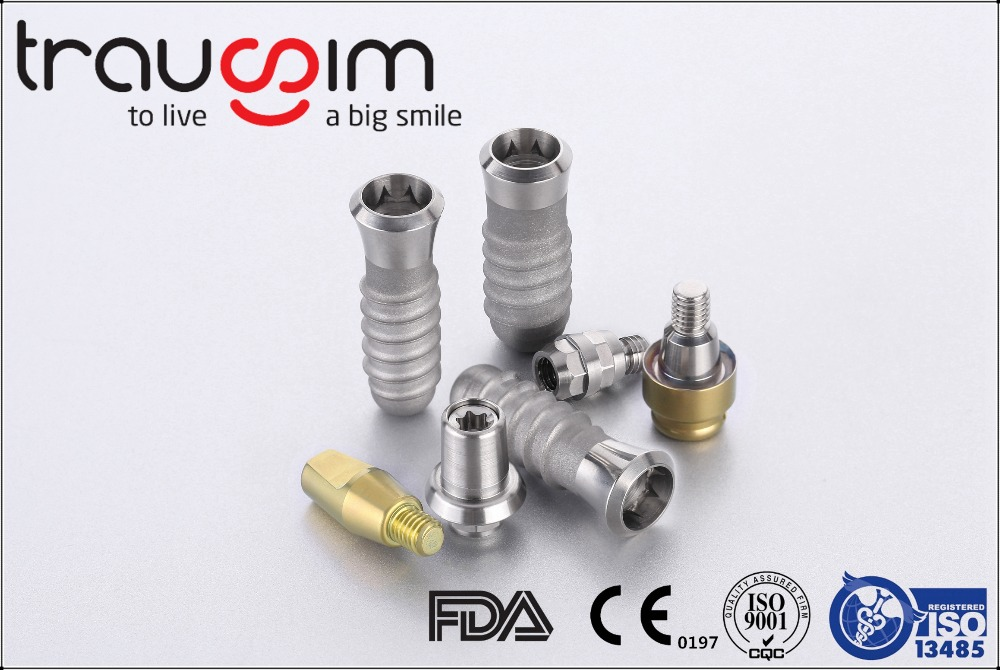 China Titanium Dental Implant Material 100% compatible with straumann and Israel Implants