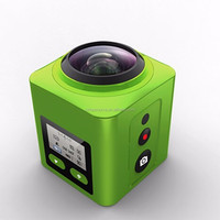 2016 New Arrival 4k 24fps Cube 360 VR Camera with WiFi Mini underwater Camera 360 Degree Panorama