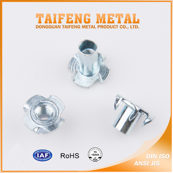 wholesale carbon steel galvanized knurled m6 t nut