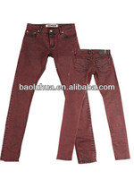 2014 Newest Ladies Designer Denim Jeans Red Vintage Denim Jeans