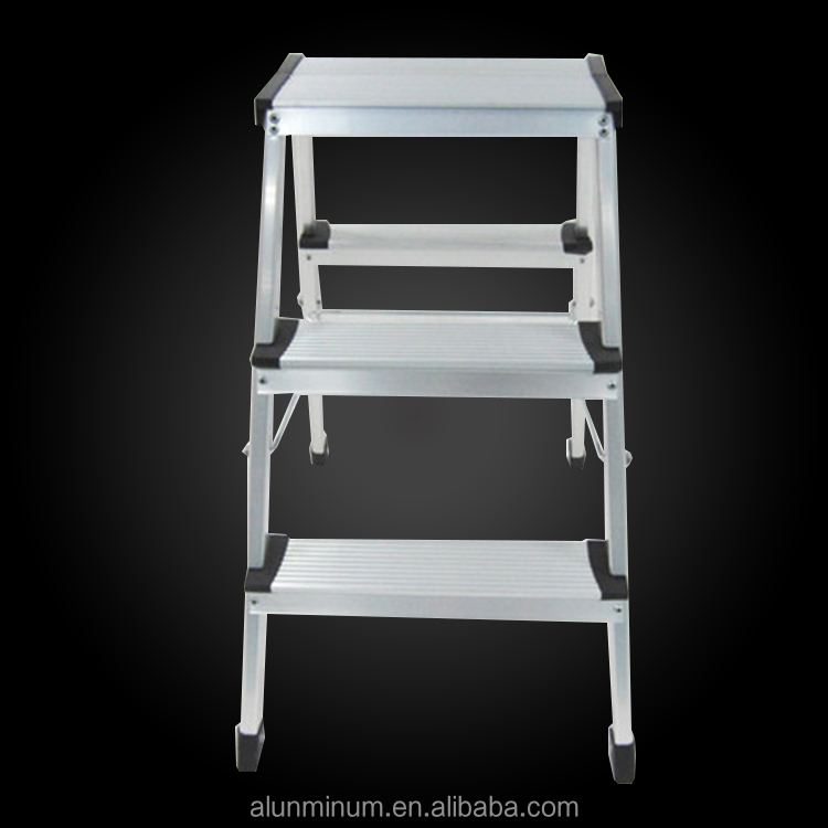 Factory price 6 steps aluminum folding attic ladder with handrail