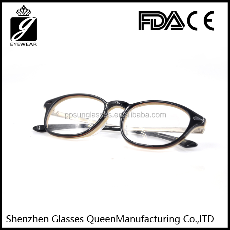 2016 Latest Japan design optical frame handmade acetate unisex prescription eyeglasses frame
