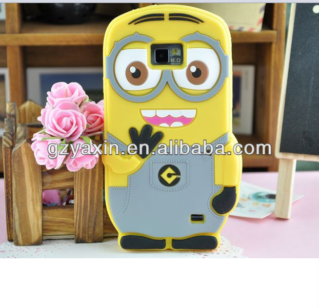 3d despicable me minion case for samsung galaxy s2 i9100,3d case for samsung galaxy s2