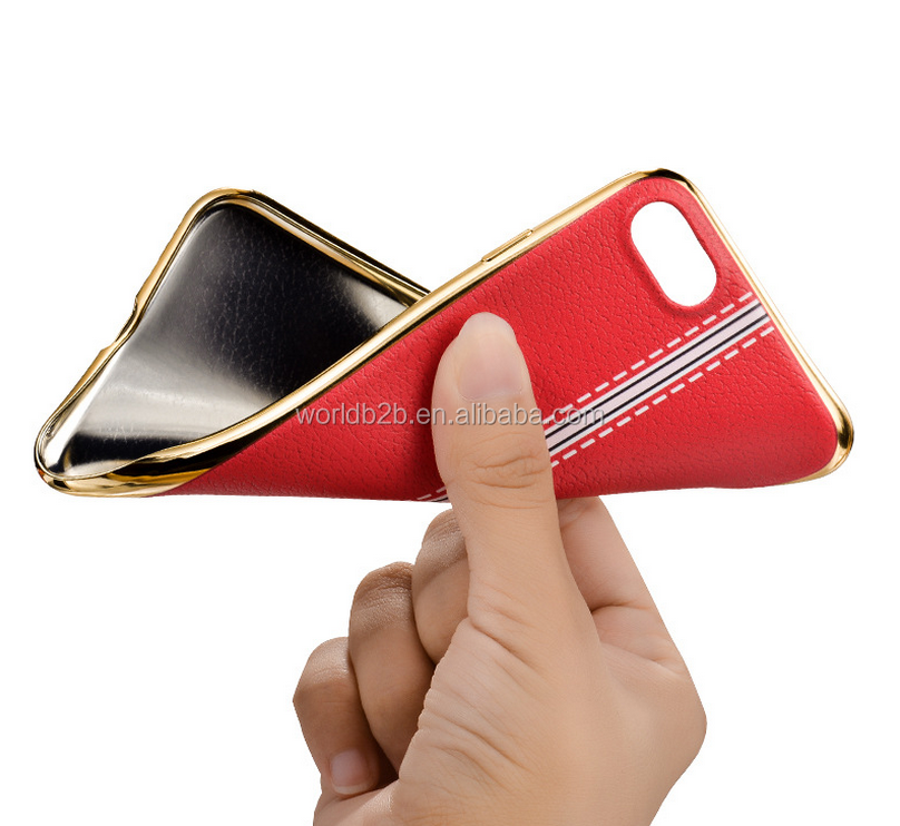 Soft TPU case for iphone6, electro plate phone case
