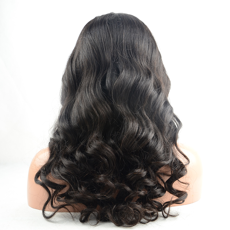 Aliexpress Loose Wave Brazilian Virgin Hair Natural Hairline Full Lace Human Hair Wig with Baby Hair